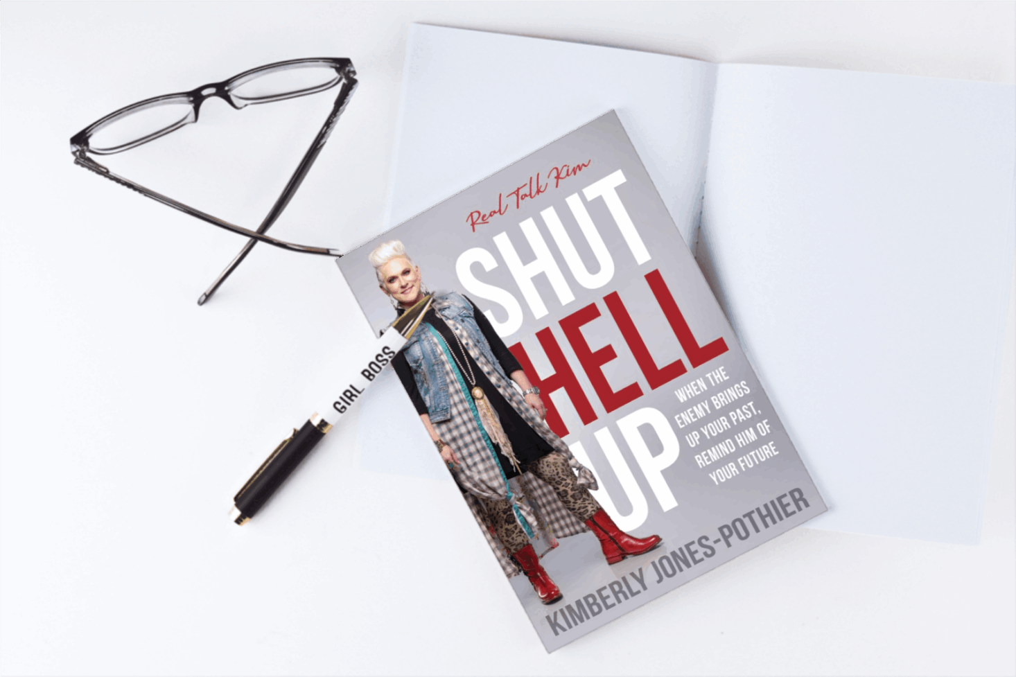 "Real Talk Kim Releases E-Course Series Along With Latest Book, ""Shut Hell Up: When the Enemy Brings Up Your Past,"" to Help Christians Break Free from Religion and Find Freedom in Jesus"